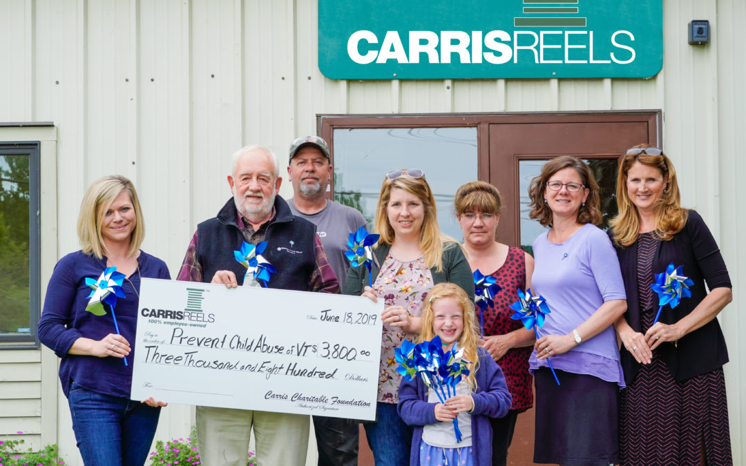 Carris Reels Supports Prevent Child Abuse Vermont